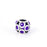 Sterling Silver Fashion Purple Cubic Zirconia Charm For Bracelet and Necklace