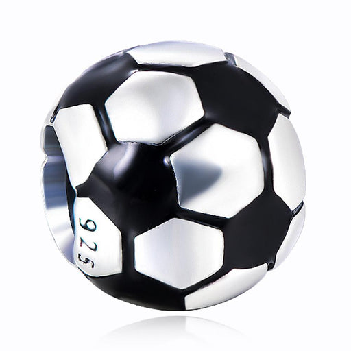 925 Sterling Silver Football Soccer Charm For Bracelet and Necklace