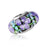 925 Sterling Silver Colorful Flower Glass Charm for Bracelet and Necklace