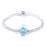 Magic Blue Bubble Glass Charm for Bracelet and Necklace-925 Sterling Silver