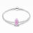 925 Sterling Silver Pink Ice Crystal Glass Charm for Bracelet and Necklace
