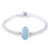 925 Sterling Silver Diamond Faced Blue Glass Charm for Bracelet and Necklace