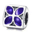 925 Sterling Silver Purple Flower Charm For Bracelet and Necklace
