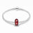 925 Sterling Silver Red Murano Glass Charm for Bracelet and Necklace
