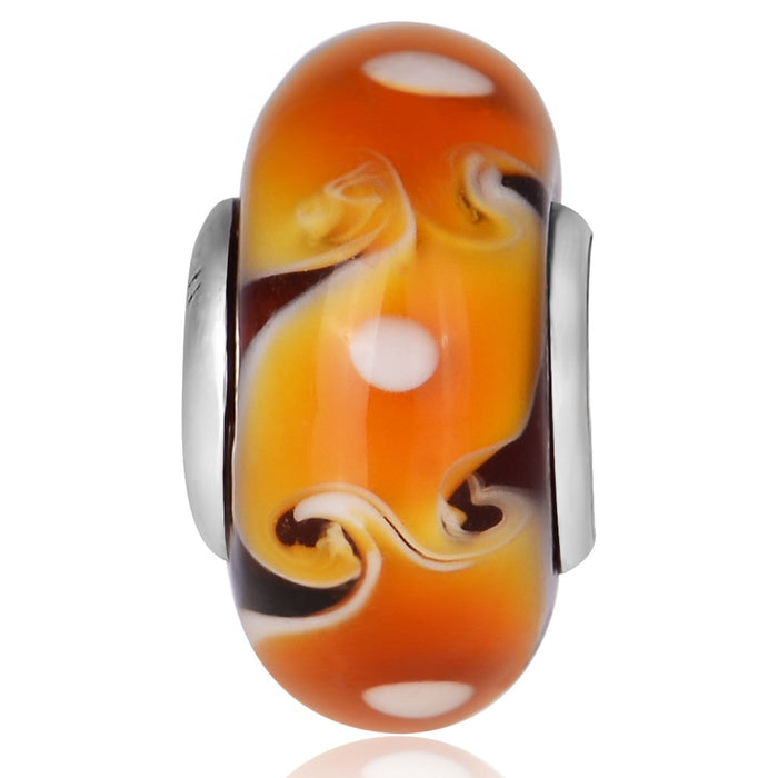 Murano Glass Charm 925 Sterling Silver for Bracelet and Necklace