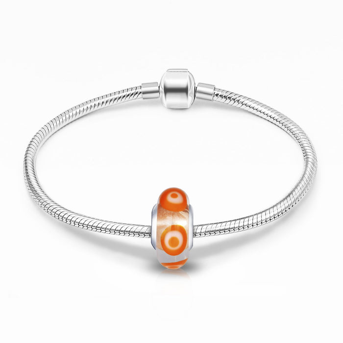 Murano Glass Charm for Bracelet and Necklace-925 Sterling Silver