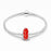 Red Love Heart Murano Glass Charm in 925 Sterling Silver for Bracelet and Necklace