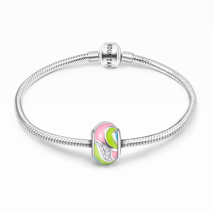 925 Sterling Silver- Craft Colorful Charm for Bracelet and Necklace
