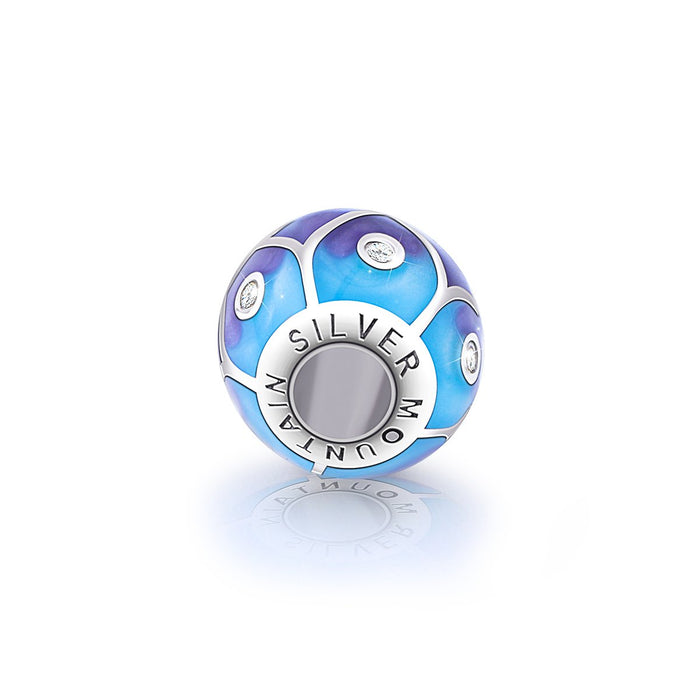 Abstract Painting Craft 925 Sterling Silver Colorful Charm for Bracelet and Necklace