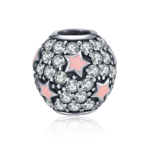 Sterling Silver  Starry Sky Charm Fit for Bracelet and Necklace
