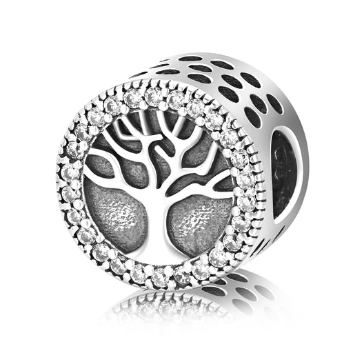 Sterling Silver Life Tree Charm for Bracelet and Necklace