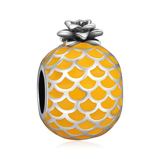 Sterling Silver Pineapple Charm Fit for Bracelet and Necklace