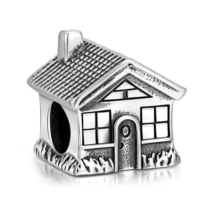 925 Sterling Silver Family House Charm