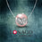 "Sterling Silver ""Love U"" Pink Heart Charm for Bracelet and Necklace"