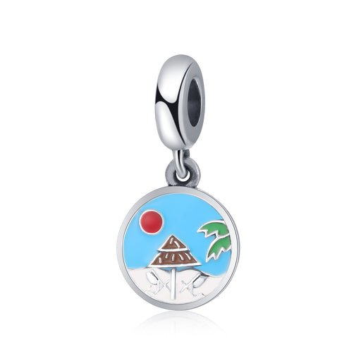Sterling Silver Beach In The Summer Charm Fit for Bracelet and Necklace