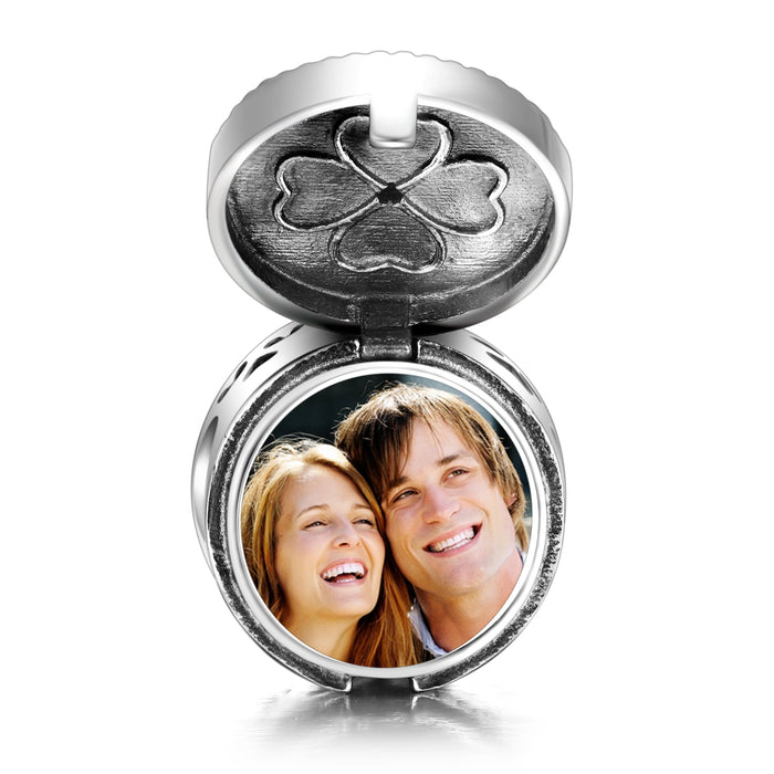 Personalized Color  Photo Cylinder Box Charm