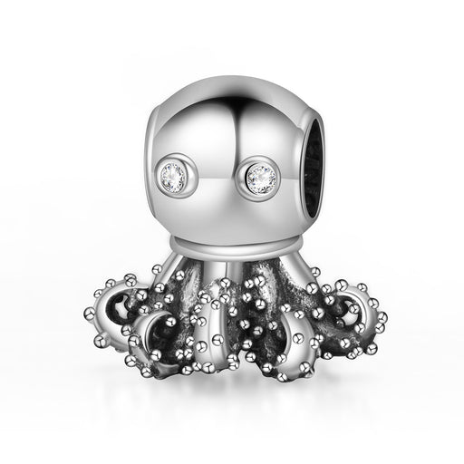 Sterling Silver Octopus Charm Fit for Bracelet and Necklace