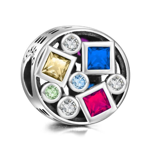 Sterling Silver Colorful Charm Fit for Bracelet and Necklace