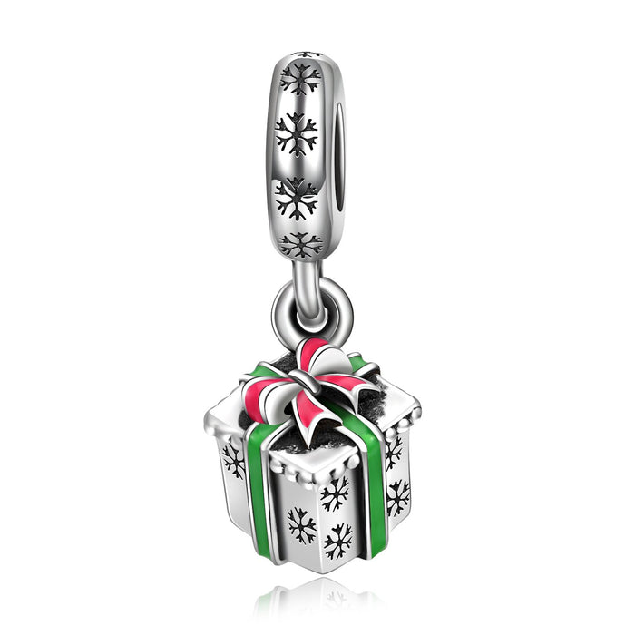 925 Sterling Silver Christmas Gift Box Charm