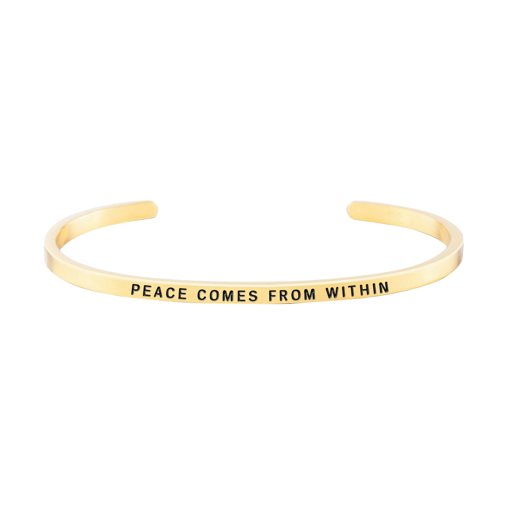 "Peace series Customized Engraved Personalized Bangle Bracelet Adjustable 6""-7.5"""