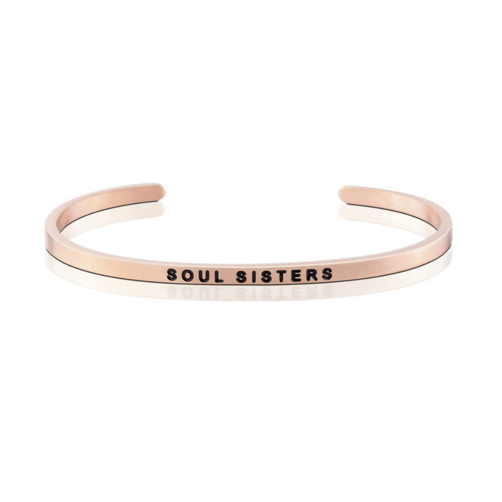 "Happiness Series Customized Engraved Personalized Bangle Bracelet Adjustable 6""-7.5"""