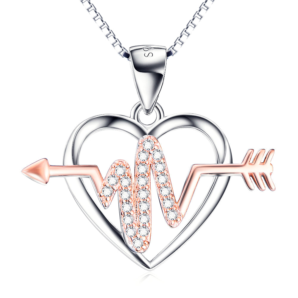 Heartbeat Arrow Necklace