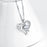I Love You-925 Sterling Silver Jewelry Heart Pendant With Chain Necklace