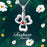 925 Sterling Silver Lucky Grass Good Luck Necklace For Women Girls