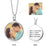We're Meant For Each Other -  Copper/925 Sterling Silver Personalized Color Photo &Text Necklace