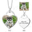 "925 Sterling Silver Personalized Pets Color Photo&Text Necklace Adjustable 16""-20"""