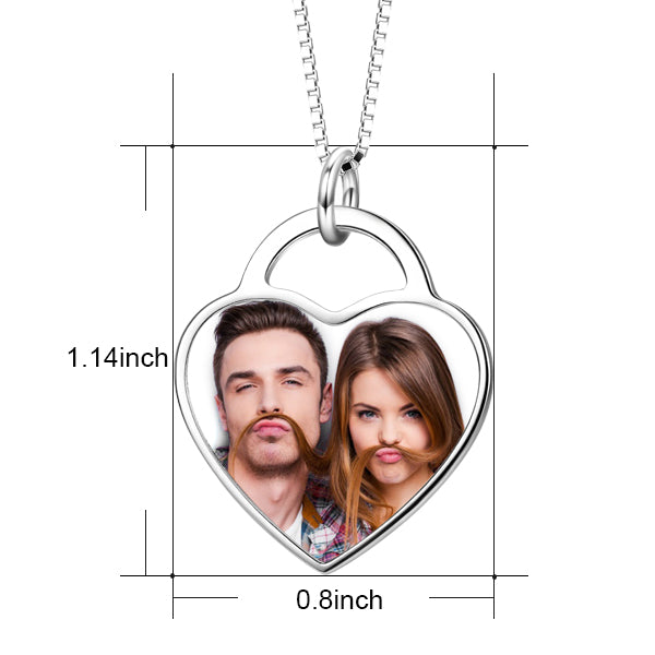 PHOTO HEART PENDANTS & JEWELERY  IN STERLING SILVER