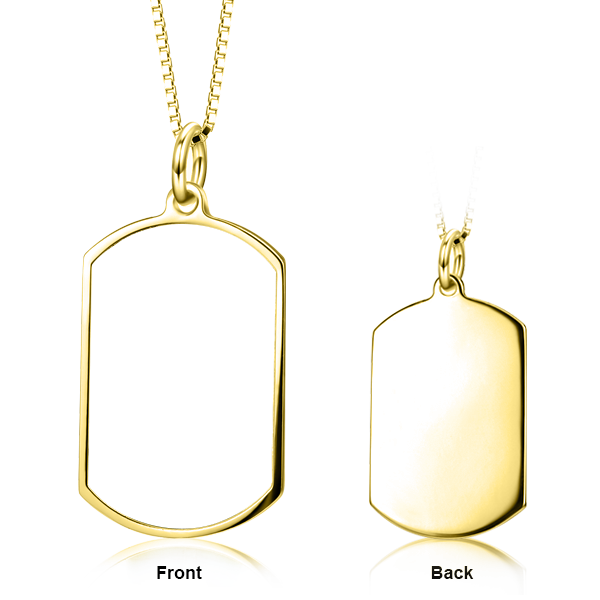 "Adjustable 16""-20"" Personalized Color Photo Necklace in 14K Gold"