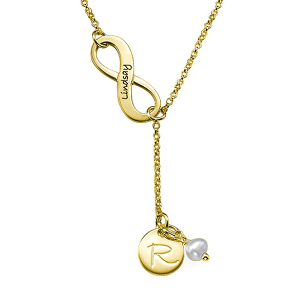 "925 Sterling Silver Personalized Infinity Initial Necklace  Adjustable 16""-20"""