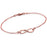 "Copper/925 Sterling Silver Personalized Infinity Engraved Bracelet Adjustable 6""-7.5"""