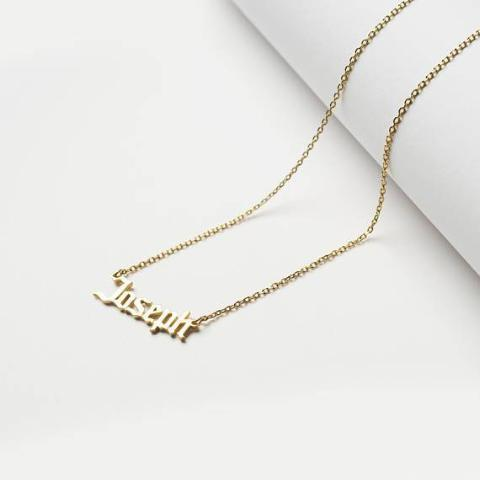 "925 Sterling Silver Personalized Minimal Name Jewelry Adjustable 16""-20"" -White Gold/Yellow Gold Plated"