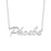 "Copper/925 Sterling Silver Adjustable 16""-20"" Personalized Classic Name Necklace"