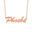 "Phoele - Copper/925 Sterling Silver Adjustable 16""-20"" Personalized Classic Name Necklace"