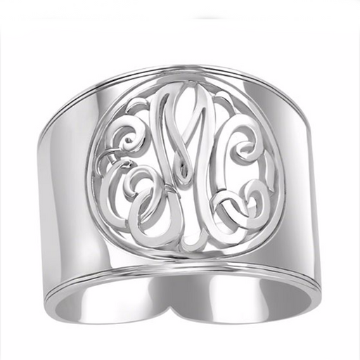 Sterling Silver Personalized Monogram Ring