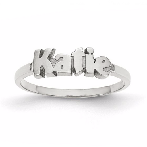 Katie Style-Sterling Silver Personalized  Name Ring