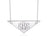 "925 Sterling Silver Personalized Engravable Triangle  Initial Necklace-Adjustable 16""-20"""