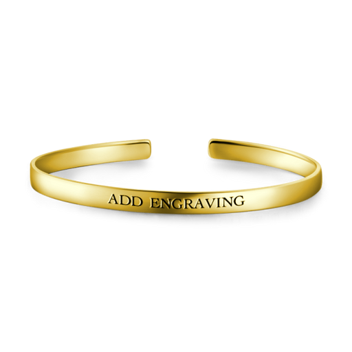 9K Gold Personalized Engravable Bangle-Medium