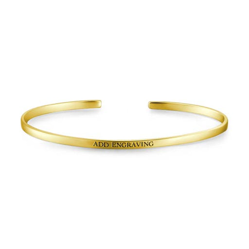 9K Gold Personalized Engravable Bangle -Small