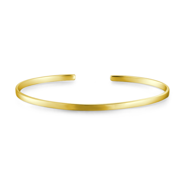 10K Gold Personalized Engravable Bangle -Small