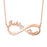 "Copper/925 Sterling Silver Personalized Infinite Love Name Necklace  Adjustable 16""-20"""