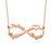 "14K Gold Personalized Infinity Name Necklace With 3 Names Adjustable 16""-20"""
