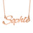 """Sophie""Style 10K/14K  Gold Personalized Name Necklace Adjustable 16""-20""- White Gold/Yellow Gold/Rose Gold"