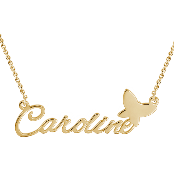 Sterling Silver Name Necklace - 14K Gold Plated