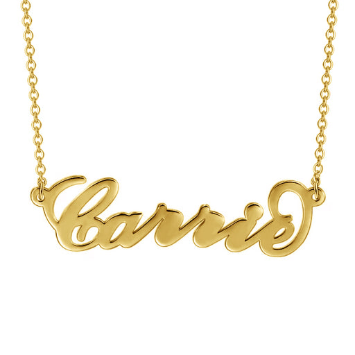 "Carrie - Carry Your Name -Copper/925 Sterling Silver/10K/14K/18K Personalized Name Necklaces Adjustable Chain 16""-20"""