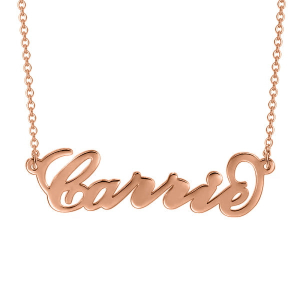 Carry Your Name -10K/14K  Gold Personalized Name Necklace Adjustable Chain-White Gold/Yellow Gold /Rose Gold