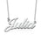 "Julia -  Copper/925 Sterling Silver Custom Name Necklaces Adjustable Chain 16""-20"""